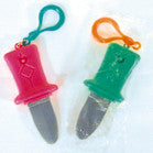 MINI SPRING PLASTIC KNIVES KEY CHAINS (Sold by the dozen) -* CLOSEOUT NOW ONLY 10 CENTS EACH