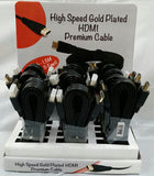 HIGH SPEED HDMI GOLD PLATED 5 FOOT CABLE (sold by the piece or dozen ) -* CLOSEOUT ONLY $ 2.00 EA