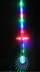 MULTI COLOR RIANBOW LIGHT UP CROSS STAR FORCE SWORD ( sold by the piece )