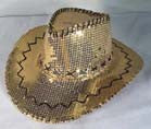 GOLD SEQUIN COWBOY HAT (Sold by the piece)