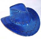 BLUE SEQUIN COWBOY HAT (Sold by the piece)