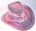 PINK SEQUIN COWBOY HAT (Sold by the piece)