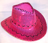 edf8fd90731 SEQUIN COWBOY HAT HOT PINK (Sold by the piece)
