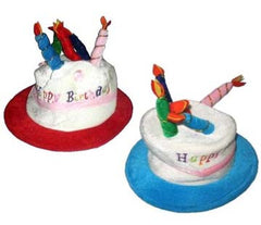 BIRTHDAY CAKE AND CANDLE PARTY HAT (Sold by the piece)