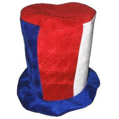 TALL RED WHITE BLUE PARTY HAT (Sold by the piece)