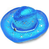 BLUE TWO TONE WOVEN COWBOY HAT (Sold by the piece) *- CLOSEOUT NOW $ 5 EA