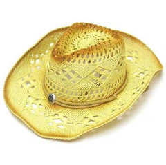 CAMEL TWO TONE WOVEN COWBOY HAT (Sold by the piece)