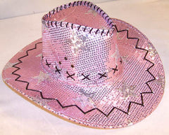 PINK STAR SEQUIN COWBOY HAT (Sold by the piece) *- CLOSEOUT NOW $ 2.50 EACH
