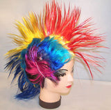 ASSORTED RAINBOW WILD MOHAWK HAIR HAT (Sold by the piece) CLOSEOUT $ 2 EACH