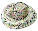 SEQUIN COWBOY HAT RAINBOW (Sold by the piece) CLOSEOUT NOW ONLY $2 EA