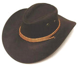 BROWN ROPER COWBOY HAT (Sold by the piece) *- CLOSEOUT $ 2.50 EA