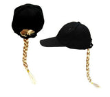 BLONDE BRAID BASEBALL HAT (Sold by the piece)