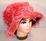 FUZZY RED HAT (Sold by the piece)  *- CLOSEOUT NOW ONLY $ 2.50 EA