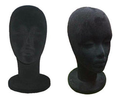 BLACK VELVET FOAM HEAD DISPLAY (Sold by the piece)