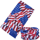 AMERICAN FLAGS MULTI FUNCTION SEAMLESS BANDANA WRAP ( sold by the piece or dozen )