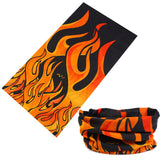 LARGE RED FLAMES MULTI FUNCTION SEAMLESS BANDANA WRAP ( sold by the piece or dozen )