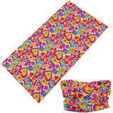LOVE HEARTS MULTI FUNCTION SEAMLESS BANDANA WRAP ( sold by the piece or dozen )