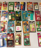 ASSORTED GRAB BAG OF CARDED TRICK, GAG, JOKE, PRANK NOVELTIES ( Sold by the dozen ) *- CLOSEOUT NOW 25 CENTS EA
