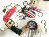 ALL KINDS OF ASSORTED NOVELTY KEY CHIANS ( Sold by the dozen ) *- CLOSEOUT NOW 25 CENTS EA