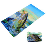 BASS FISH FISHERMEN MULTI FUNCTION SEAMLESS BANDANA WRAP ( sold by the piece or dozen )