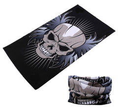 SKULL HEAD WITH WINGS MULTI FUNCTION SEAMLESS BANDANA WRAP ( sold by the piece or dozen )