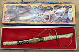 DELUXE MONGOLIAN FANCY 18 INCH SWORD ( Sold by the piece ) *- CLOSEOUT NOW $5 EA