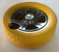 RUBBER TIRE WITH RIM ASHTRAY ( Sold by the piece ) *- CLOSEOUT $ 1 EACH