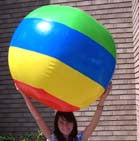 GIANT SIZE BEACH BALL INFLATE 48 INCH  (Sold by the piece)