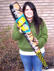 42 INCH SIMPSONS INFLATABLE BASEBALL BATS (Sold by the dozen) * CLOSEOUT NOW $ 1 EA