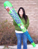 65 INCH JUMBO SPONGEBOB INFLATABLE BASEBALL BAT (Sold by the dozen)