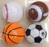 SPORTS BALLS PVC INFLATABLES (sold by the dozen )