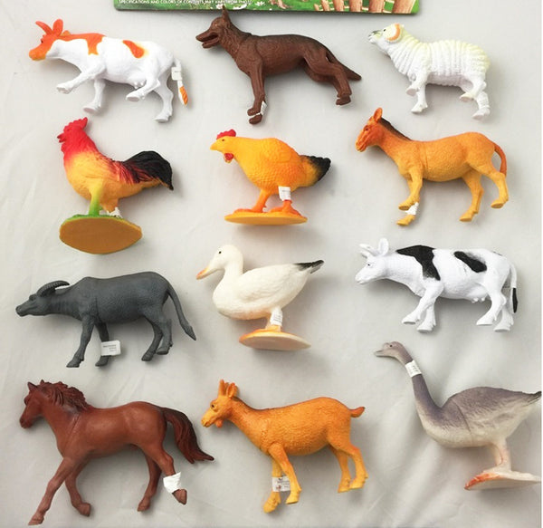 Play Rubber 6 Inch Farm Animals Sold By The Pack Of 6