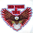 JUMBO BACK PATCH RED WHITE TRUE EAGLE (Sold by the piece)