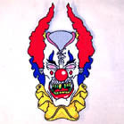 JUMBO BACK PATCH CRAZY CLOWN (Sold by the piece)
