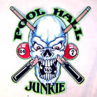 JUMBO BACK PATCH POOL HALL JUNKIE (Sold by the piece)