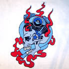 JUMBO BACK PATCH ENGINE SKULL (Sold by the piece)
