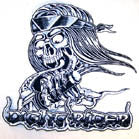 JUMBO BACK PATCH NIGHT RIDER SCULL (Sold by the piece)