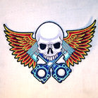 JUMBO BACK PATCH PISTON SKULL (Sold by the piece)