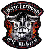 JUMBO BACK PATCH BROTHERHOOD OF BIKER (Sold by the piece)