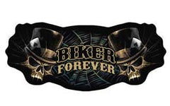 BIKER FOREVER JUMBO BACK PATCH (Sold by the piece)