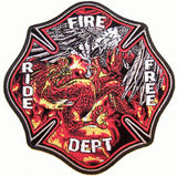 EAGLE DRAGON FIRE DEPT JUMBO PATCH (Sold by the piece)