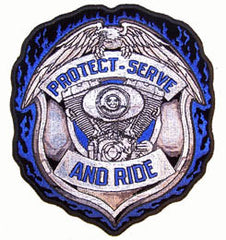 PROTECT AND SERVE JUMBO 6 INCH PATCH (Sold by the piece)