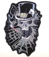SKELETON SPIDER WEB JUMBO PATCH (Sold by the piece)