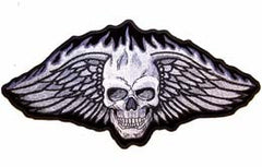 JUMBO SKULL WINGS JUMBO PATCH 12X6(Sold by the piece)