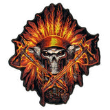 JUMBO  FIRE HEADDRESS AXES  PATCH 6 INCH (Sold by the piece)