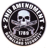 JUMBO 2nd AMENDMENT 9 INCH PATCH  (Sold by the piece)