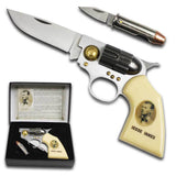 JESSIE JAMES OUTLAW COLLECTOR GUN KNIFE SET W BULLET ( sold by the piece )