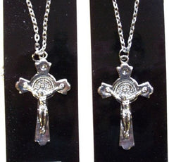 CRUCIFIX CROSS ON CHAIN NECKLACE (Sold by the PIECE OR dozen)