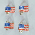 AMERICAN FLAG JEWEL RINGS (Sold by the display of 3 dozen) CLOSEOUT NOW ONLY 25 CENTS EA