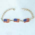 AMERICAN FLAG 3 PIECE JEWEL BRACELETS (Sold by the dozen)